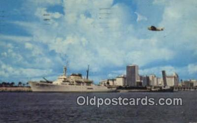 shi009315 - Cruise Ship Sailing From Down  Town Miami, Miami, Florida, FL USA Steam Ship Postcard Post Cards