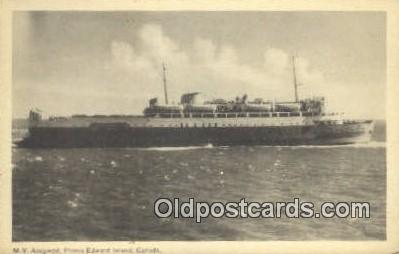 shi009318 - MV Abegwett Prince Edward Island, Canada Steam Ship Postcard Post Cards