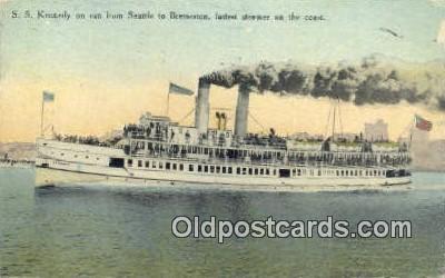 shi009319 - SS Kennedy, Seattle, Washington, WA USA Steam Ship Postcard Post Cards