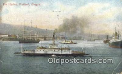 shi009321 - The Harbor, Portland, Oregon, OR USA Steam Ship Postcard Post Cards