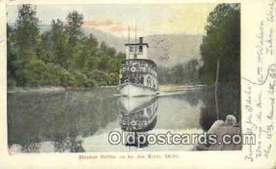 shi009325 - Steamer Colfax, St Joe River, Idaho, ID USA Ferry Postcard Post Card Old Vintage Antique