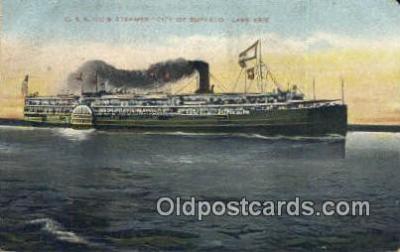 shi009326 - C And B Company Steamer City Of Buffalo, Lake Erie, Michigan, MI USA Steam Ship Postcard Post Cards
