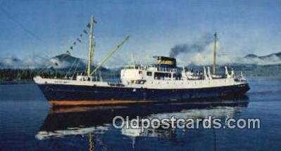 shi009341 - SS Glacier Queen, Vancouver, British Columbia, BC  Steam Ship Postcard Post Cards