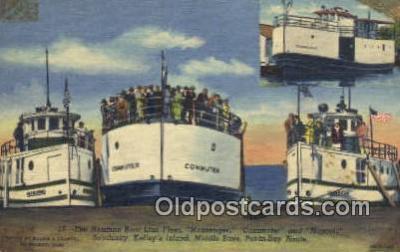 shi009345 - The Nueman Boat Line Fleet, Commuter And Mascol, Sandusky, Kellys Island Steam Ship Postcard Post Cards