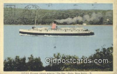 shi009348 - CPSS Princess Helene Entering, The Gap Digby, Nova Scotia Steam Ship Postcard Post Cards