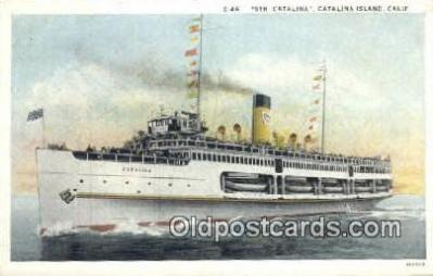 shi009349 - Steamer, Catalina, Catalina Island, California, CA USA Steam Ship Postcard Post Cards