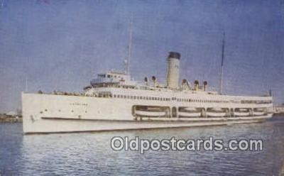 shi009350 - Steamer, Catalina, Catalina Island, California, CA USA Steam Ship Postcard Post Cards