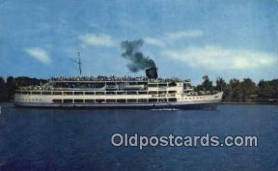 shi009354 - SS Mount Vernon, Washington DC, USA Steam Ship Postcard Post Cards