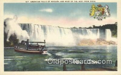 shi009360 - American Side Of Niagara, And The Maid Of The Mist, New York, NY USA Steam Ship Postcard Post Cards