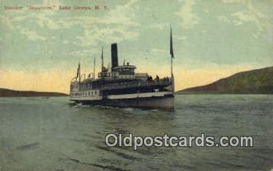 shi009365 - Steamer Saga more, Lake George, New York, NY USA Steam Ship Postcard Post Cards