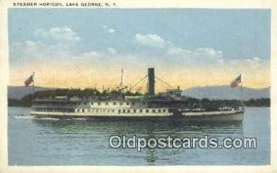 shi009366 - Steamer Horicon, Lake George, New York, NY USA Steam Ship Postcard Post Cards