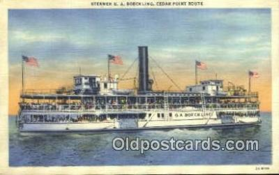 shi009371 - Steamer GA Boeckling Cedar Point Steam Ship Postcard Post Cards