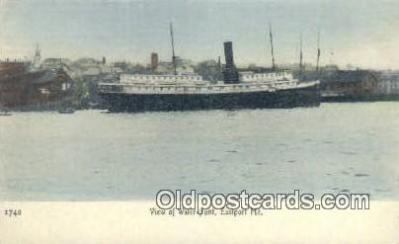 shi009380 - Water Front, Eastport, Maine, ME USA Steam Ship Postcard Post Cards