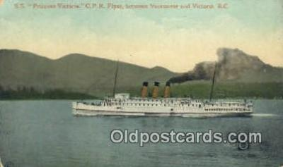 shi009387 - SS Princess Victoria, CPR Flyer, Vancouver, British Columiba, BC Steam Ship Postcard Post Cards