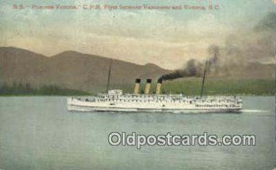 shi009388 - SS Princess Victoria, CPR, Vancouver, British Columbia, BC  Steam Ship Postcard Post Cards