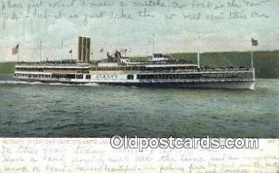 shi009419 - Hudson River Day Line Steamer, Albany, New York, NY USA Steam Ship Postcard Post Cards