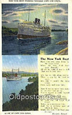 shi009426 - New York Boat, Cape Cod, Massachusetts, MA USA Steam Ship Postcard Post Cards