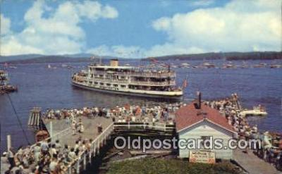 shi009439 - Mount Washington, Weirs Beach, New Hampshire, NH USA Steam Ship Postcard Post Cards