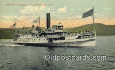 shi009447 - Steamer Horicon, Lake George, New York, NY USA Steam Ship Postcard Post Cards