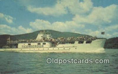 shi009449 - MV Ticonderoga On Lake George, New York, NY USA Steam Ship Postcard Post Cards