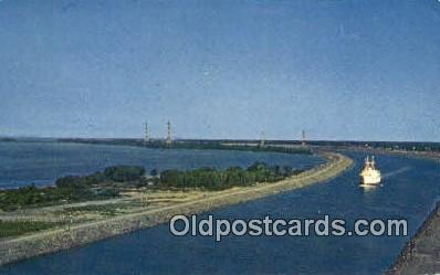 shi009472 - The St Lawrence Seaway, Canada Steam Ship Postcard Post Cards