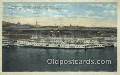 shi009476 - Steamer Quebec St Lawrence River, Quebec Steam Ship Postcard Post Cards