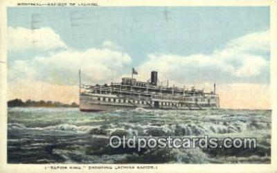 shi009477 - Montreal- Rapides De Lachine Steam Ship Postcard Post Cards
