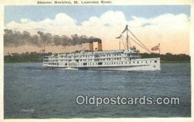 shi009484 - Steamer Montreal, St Lawrence River Steam Ship Postcard Post Cards