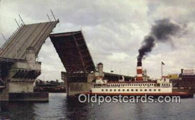 shi009489 - The Centennial Queen, Portland, Oregon, OR USA Steam Ship Postcard Post Cards