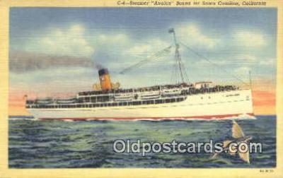 shi009509 - Steamer, Avalon, Santa Catalina, California, CA USA Steam Ship Postcard Post Cards