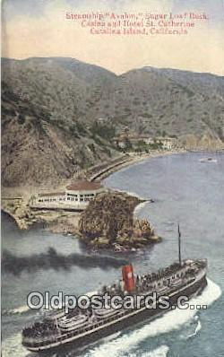 shi009516 - Steamer Avalon, Santa Catalina, California, CA USA Steam Ship Postcard Post Cards