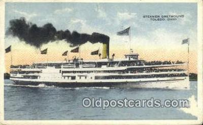 shi009520 - Steamer Greyhound, Toledo, Ohio, OH USA Steam Ship Postcard Post Cards