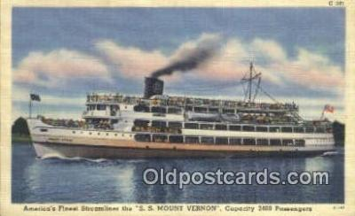 shi009525 - Americas Finest Streamliner, SS Mount Vernon, Washington, WA USA Steam Ship Postcard Post Cards