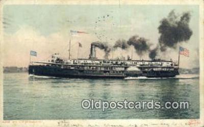 shi009566 - Steamer Of Mackinac Steam Ship Postcard Post Cards