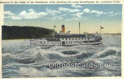 shi009578 - Steamer in The Mist Of A Maelstrom, St Lawrence River, Canada Steam Ship Postcard Post Cards