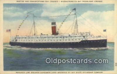 shi009592 - Boston And Provincetown Day Cruisers, Massachusetts,  MA USA Steam Ship Postcard Post Cards