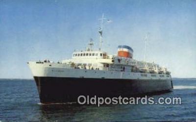 shi009602 - The Bluenose, Bar Harbor, Maine, ME USA Steam Ship Postcard Post Cards