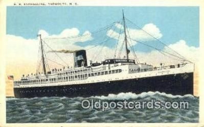 shi009629 - SS Evangeline, Yamouth, Nova Scotia Steam Ship Postcard Post Cards