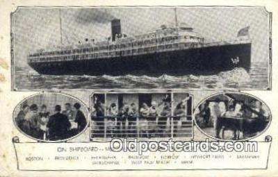 shi009631 - Merchants And Miners Transportation Company, New Port, New Rhode Island, RI, USA Steam Ship Postcard Post Cards