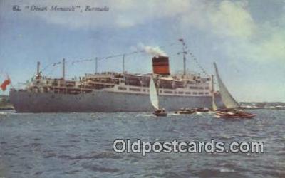 shi009634 - Queen Monarch, Bermuda Steam Ship Postcard Post Cards