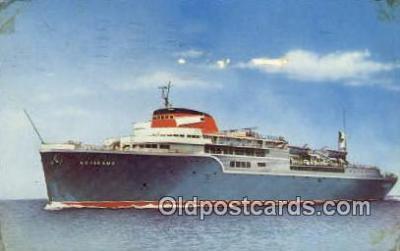 shi009651 - The Aquarama Line Steam Ship Postcard Post Cards