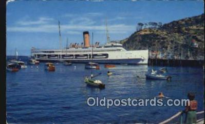 shi009664 - Avalon, Catalina Island, California, CA USA Steam Ship Postcard Post Cards