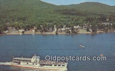 shi009672 - MV Ticonderoga, Lake George, New York NY USA Steam Ship Postcard Post Cards