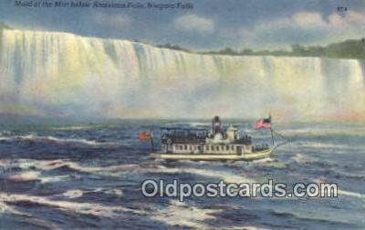 shi009675 - Maid Of The  Mist Below American Falls, Niagara Falls, New York, NY USA Steam Ship Postcard Post Cards