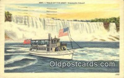 shi009677 - Maid Of The Mist Niagara Falls, New York, NY USA Steam Ship Postcard Post Cards