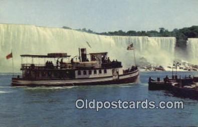 shi009682 - Maid Of The Mist, Niagara Falls, New York, NY USA Steam Ship Postcard Post Cards
