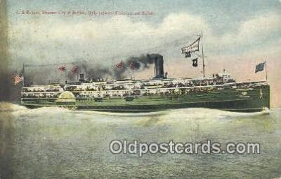 shi009686 - C And B Line Steamer City OF Buffalo, Cleveland, Ohio, OH USA Steam Ship Postcard Post Cards