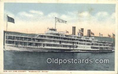 shi009687 - New Day Line Steamer, Washington Irving Steam Ship Postcard Post Cards