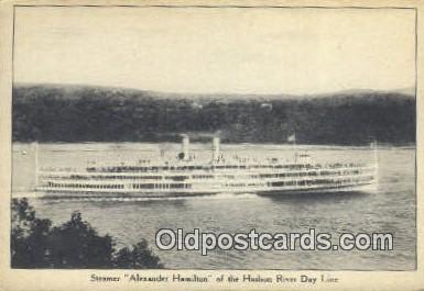 shi009689 - Steamer Alexander Hamilton, Hudson River Day Line, New York, NY USA Steam Ship Postcard Post Cards