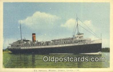 shi009697 - SS Harmonic, Windsor, Ontario, Canada Steam Ship Postcard Post Cards